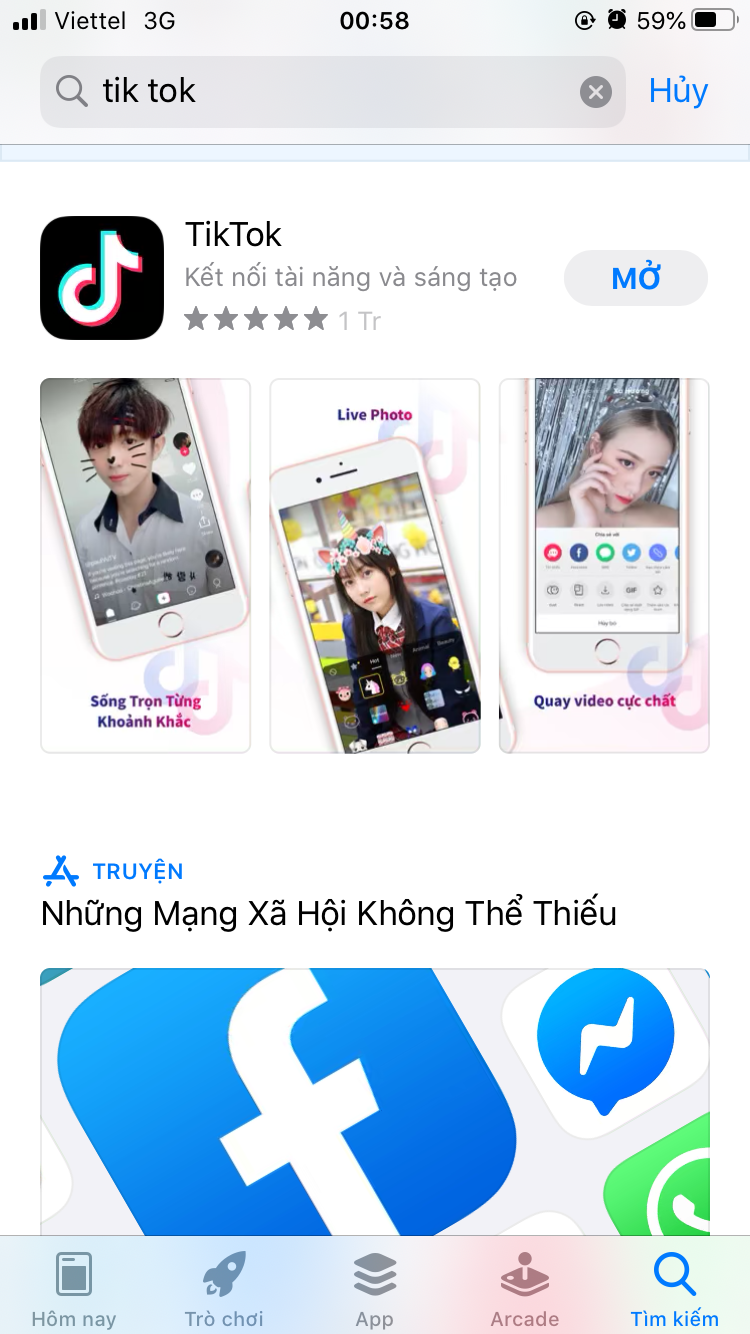 Download app Tik tok
